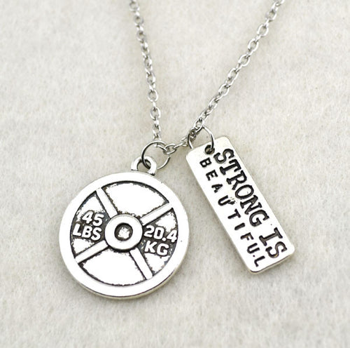 Necklaces - Strong Is Beautiful Weight Plate Necklace