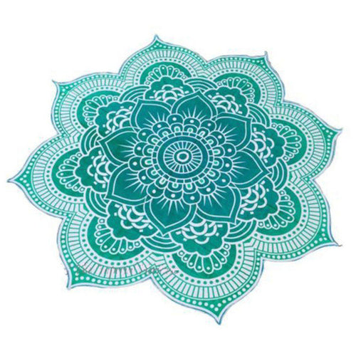 Lotus Mandala Indian Tapestry Blanket