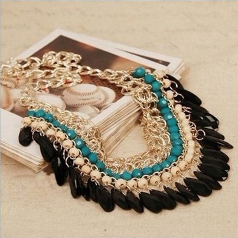 Bohemian Rhinestone Collar Necklace