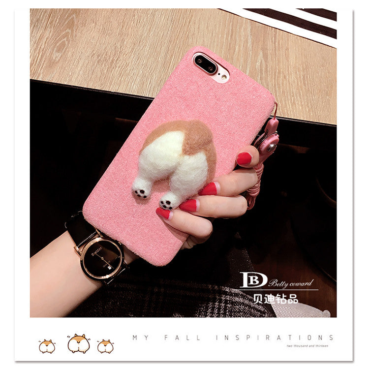 Fluffy Corgi Butt iPhone Case