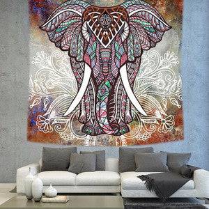 Elephant Tapestry Summer Collection