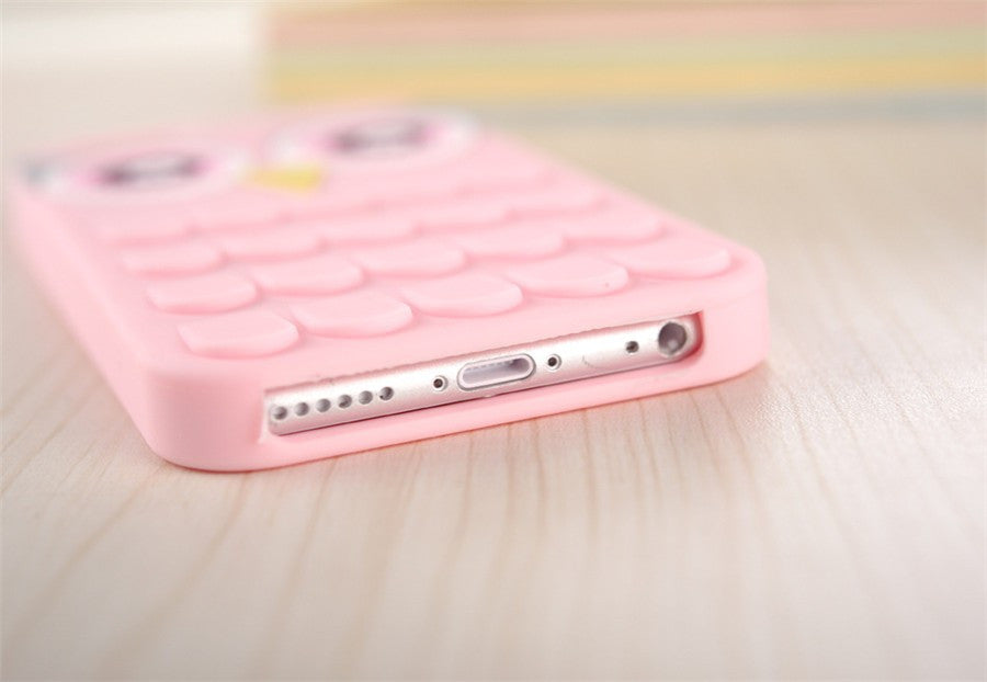 Cute Rubber Owl iPhone Case
