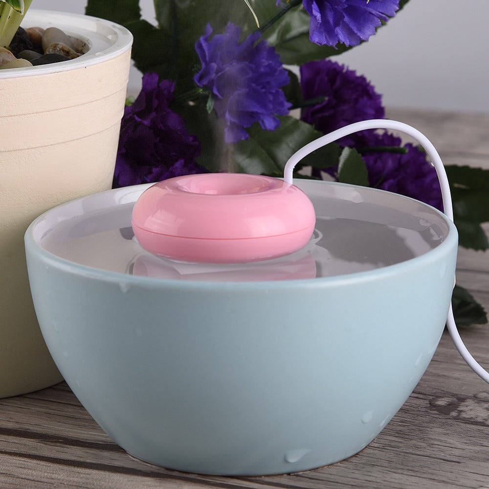 Mini Doughnut Ultrasonic Spray Humidifier