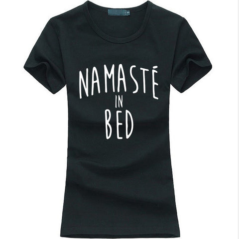 T-Shirts - Women Namastay In Bed T-Shirt