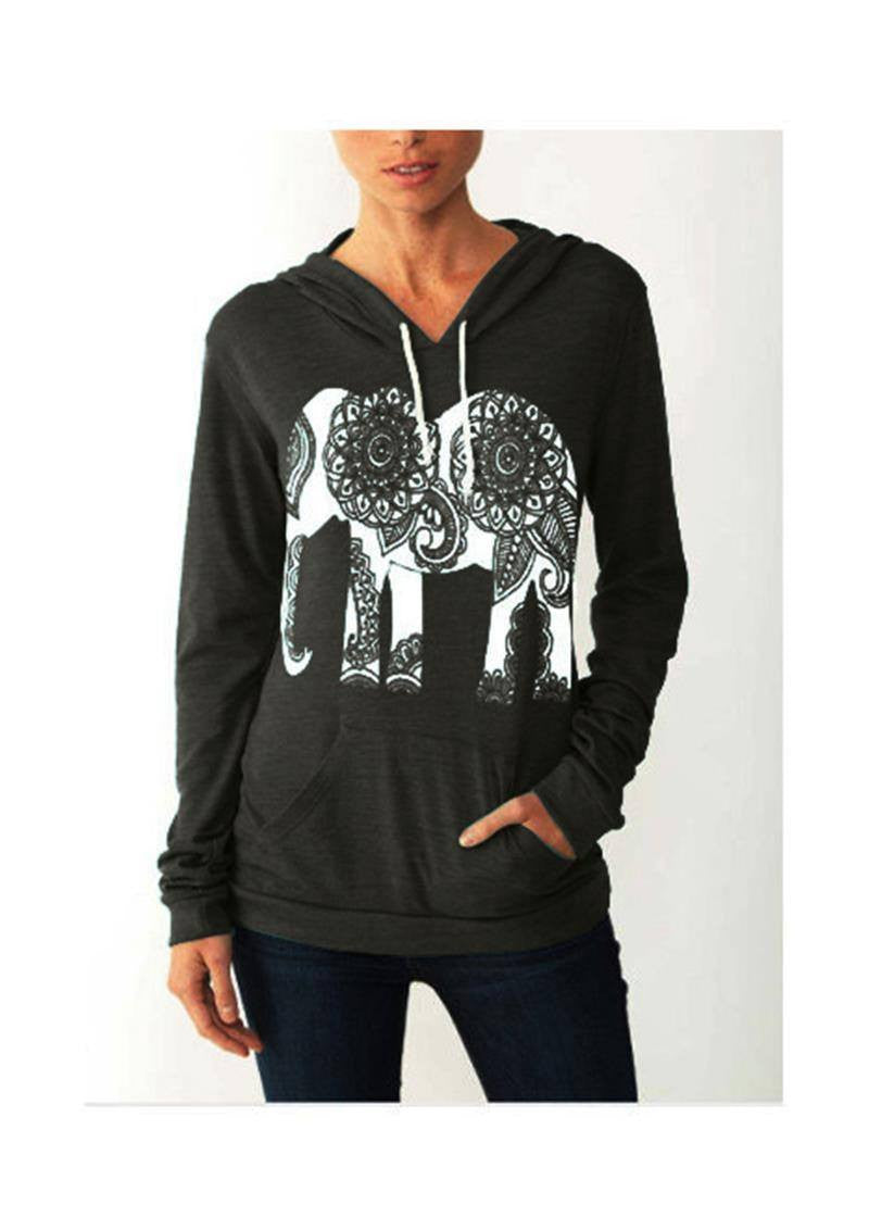 Women's Apparel - New Elephant Sweatshirt Hoodie