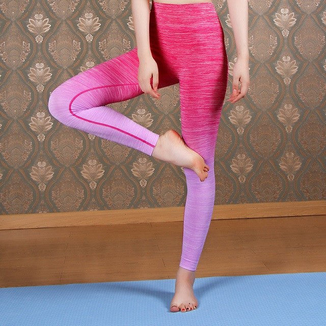 Women's Apparel - Ombre Yoga High Waist Pants