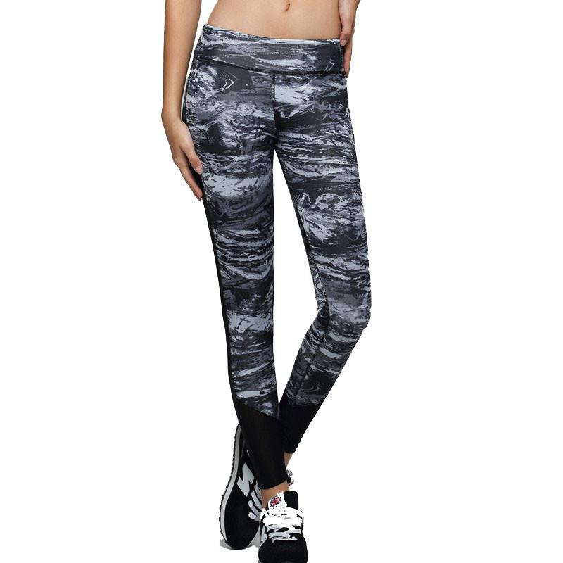 Women's Apparel - Space Dye Compression Running Yoga Pants