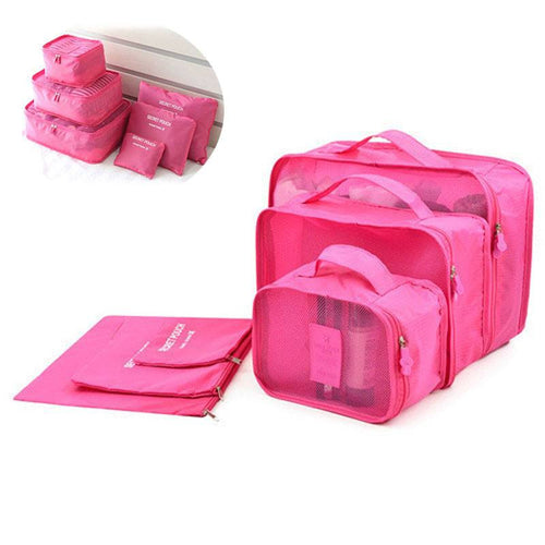 Yoga Accessories - 6Pcs Set Travel Storage Organizer