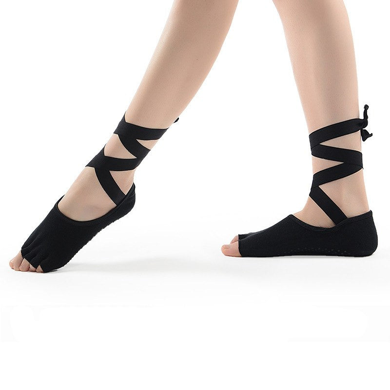 Yoga Accessories - Ankle Grip Ribbon Non-Slip Socks