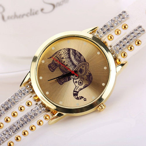 Yoga Accessories - Custom Elephant Bracelet/Quartz Watch