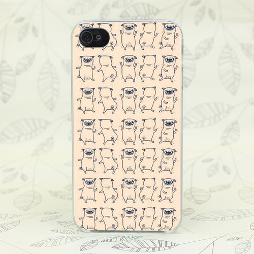 Yoga Accessories - Cute Pug Case Cover For Iphone