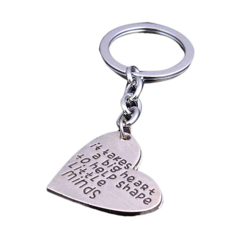 Yoga Accessories - It Takes A BIG Heart To Help Shape Little Minds Keychain