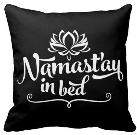 Yoga Accessories - Namaste Mandala Square Throw Pillow
