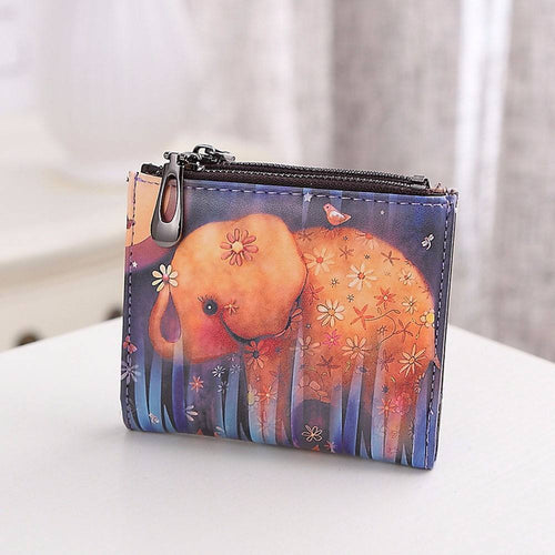 Yoga Accessories - Vintage Elephant Wallet / Coin Purse
