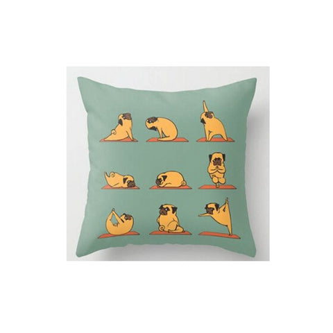 Yoga Accessories - Yoga Pug Pillow Case