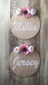 Name Plaque - Floral - Wanderlust Collective