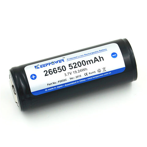 KEEPPOWER 5200 mAh LI-ION BATTERIER (1 stk)