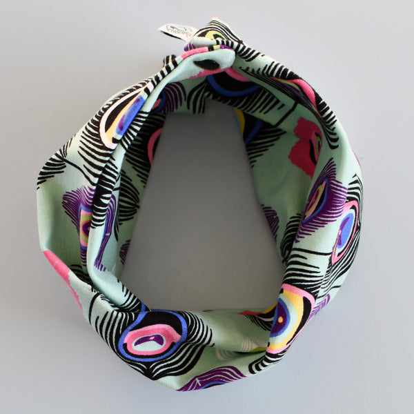 Peacocks in a Pod Snood Bib