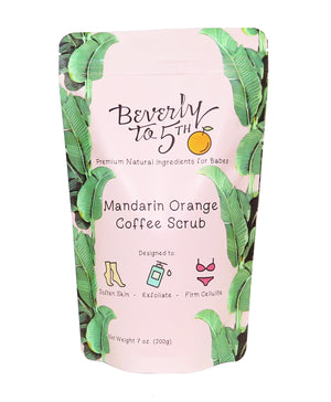 Wholesale Mandarin Orange Coffee Scrub (5 scrubs)
