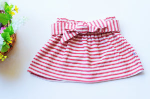 Red Stripes Skirt