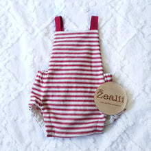 Load image into Gallery viewer, Red Stripes Romper