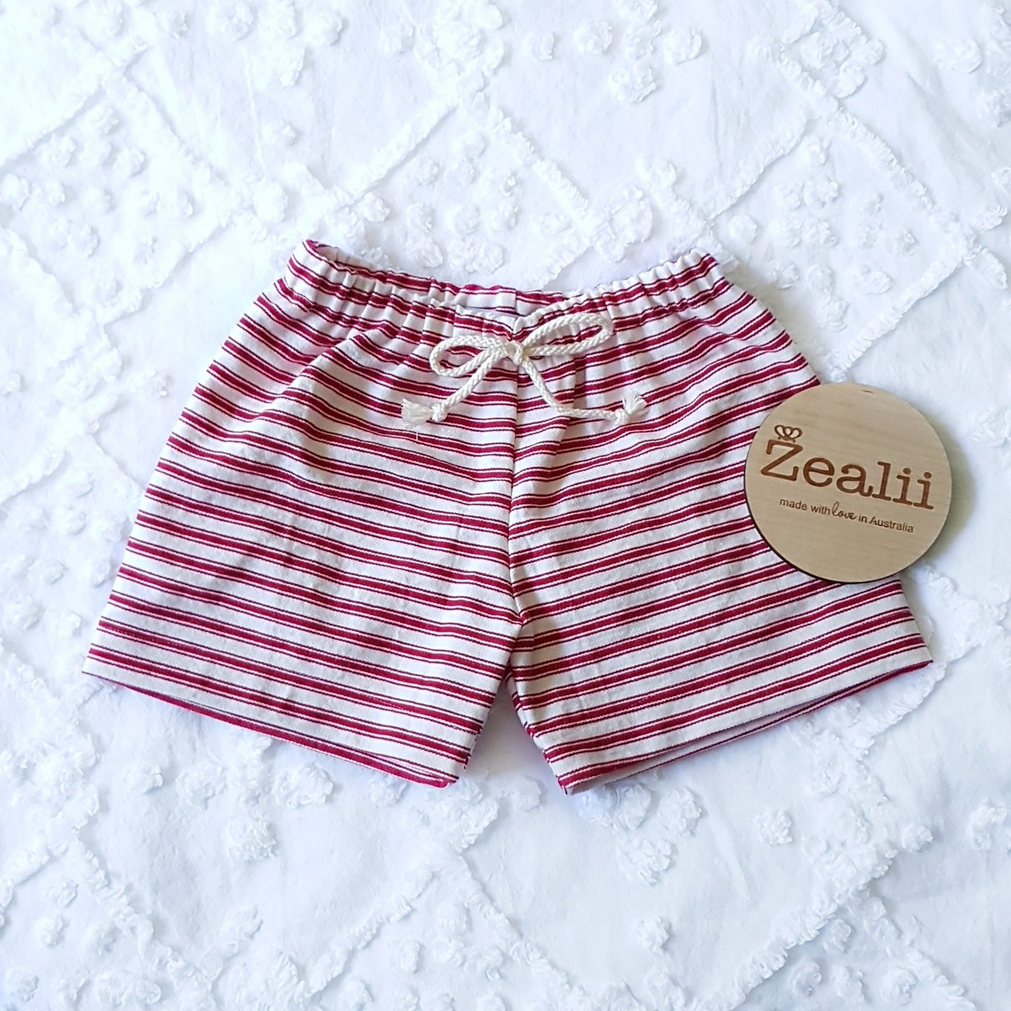 Red and White Stripes Shorts