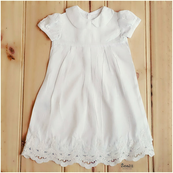 Custom long gown christening dress