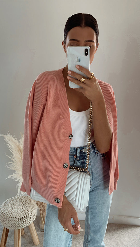 AUBREY CARDIGAN - DUSTY PINK