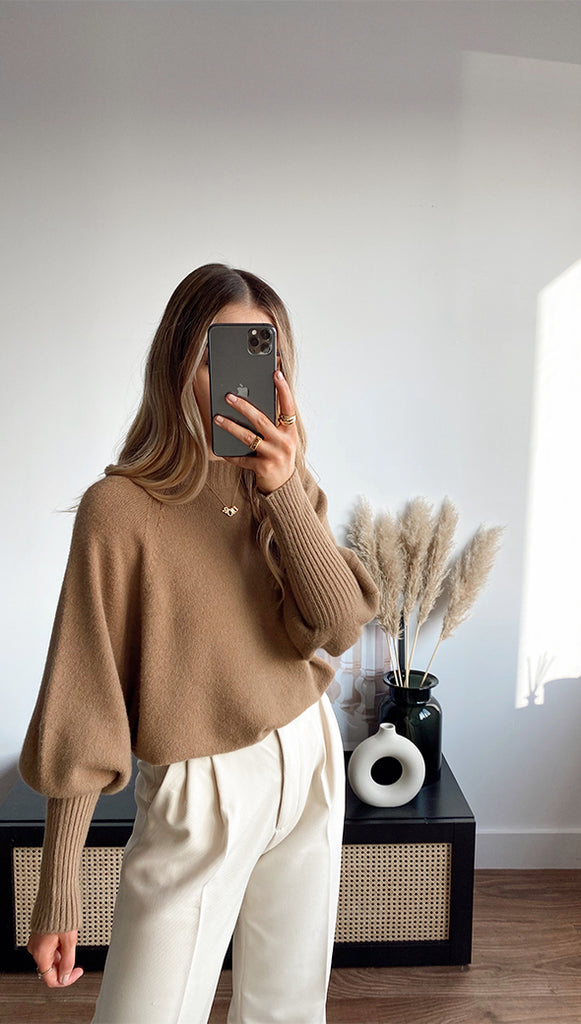 SIENA SWEATER - BROWN