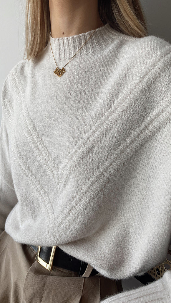 HAILEY SWEATER - IVORY