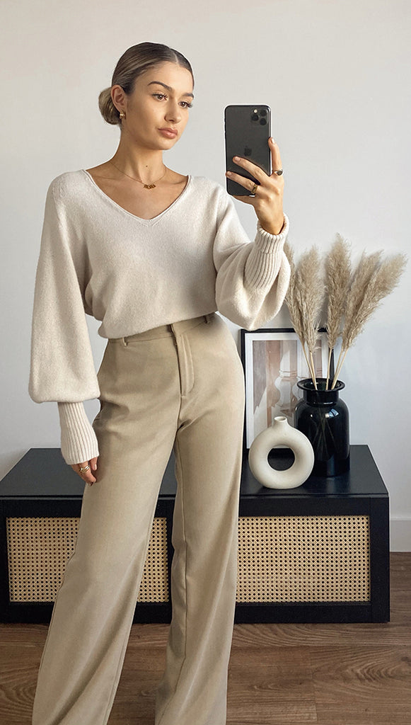 CROPPED SIENA SWEATER - IVORY