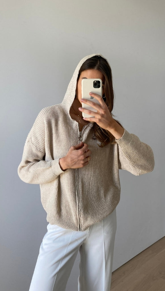 MELENA HOODED SWEATER - SHELL