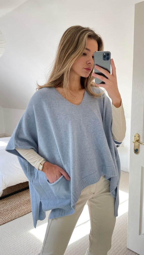 CHARLOTTE SWEATER - SKY BLUE