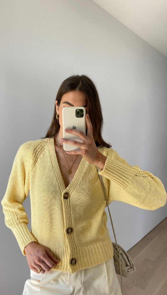 MARIANNA CARDIGAN - SOFT YELLOW