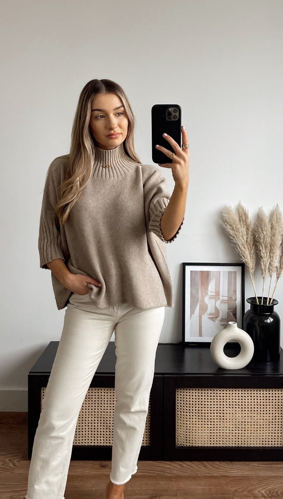 EMILIE SWEATER - CAMEL