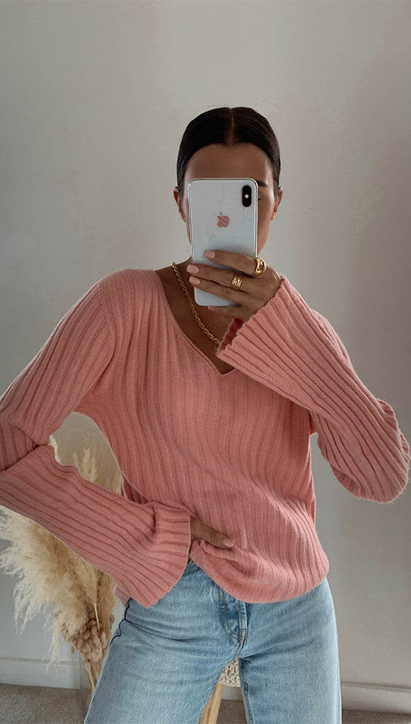 CALI SWEATER - DUSTY PINK