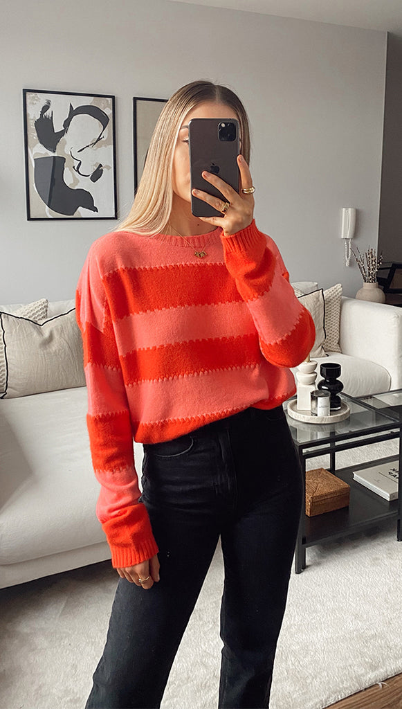 AVA SWEATER - CORAL