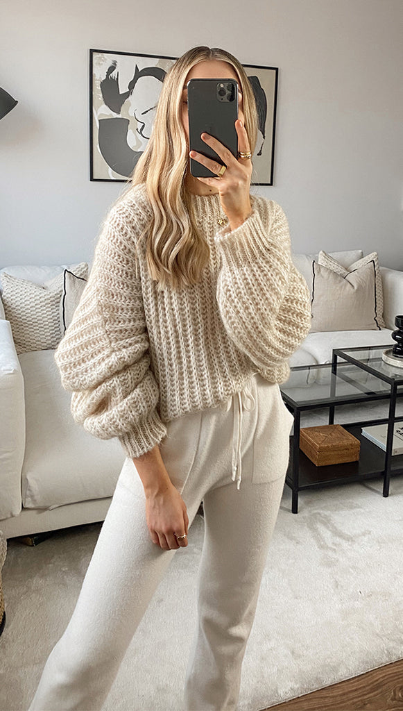 EMMIE SWEATER - BISCUIT