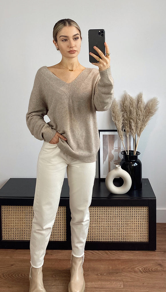IVY SWEATER - CAMEL