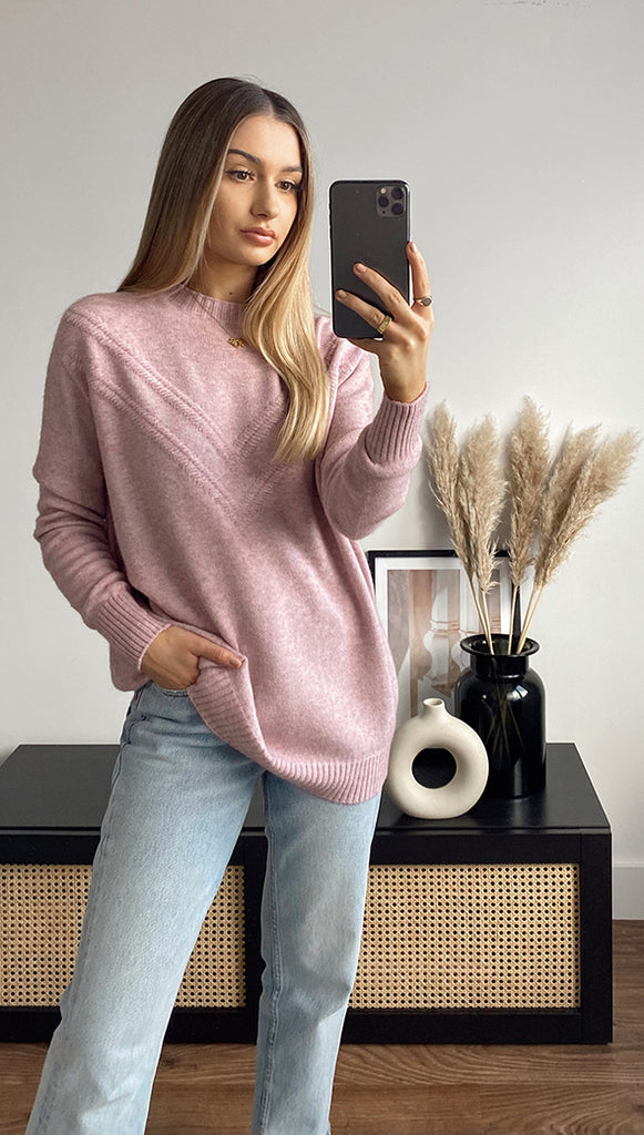 HAILEY SWEATER - ROSE