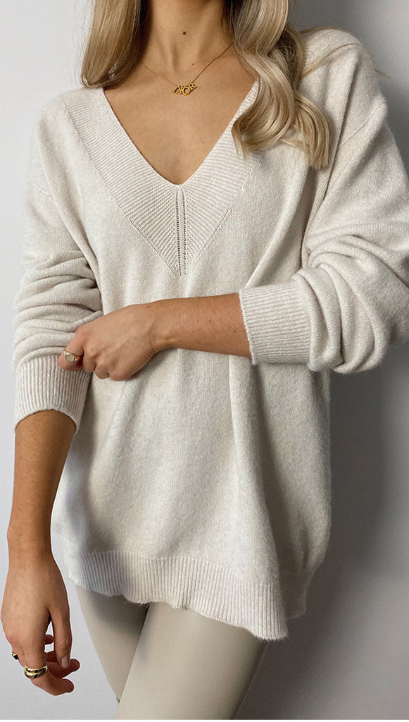 IVY SWEATER - IVORY