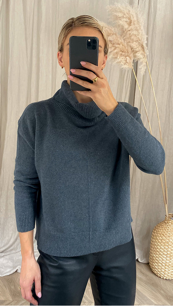 HARMONIE SWEATER - ANTHRACITE