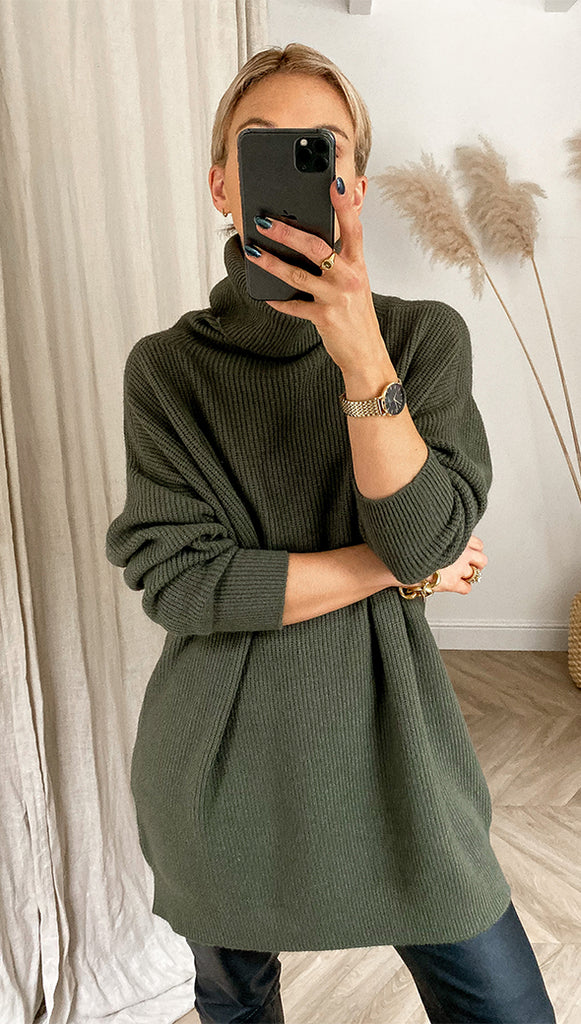 Charli Talia Sweater Dress - Green