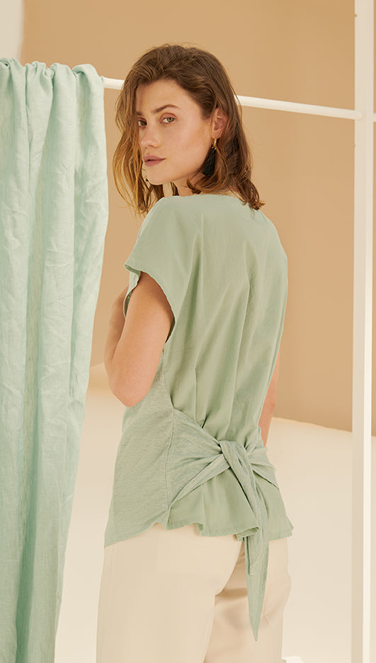 LIBBY TOP - SEA GREEN