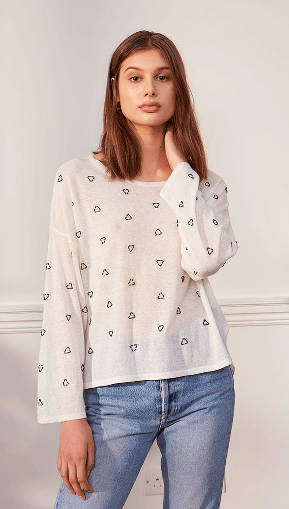 POPPY TOP - BLACK BEADS