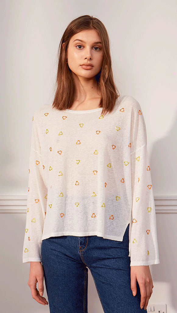 POPPY TOP - YELLOW ORANGE BEADS