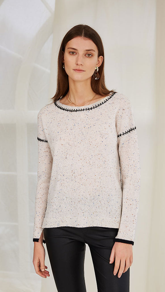 AMBER CASHMERE SWEATER - LESLIE