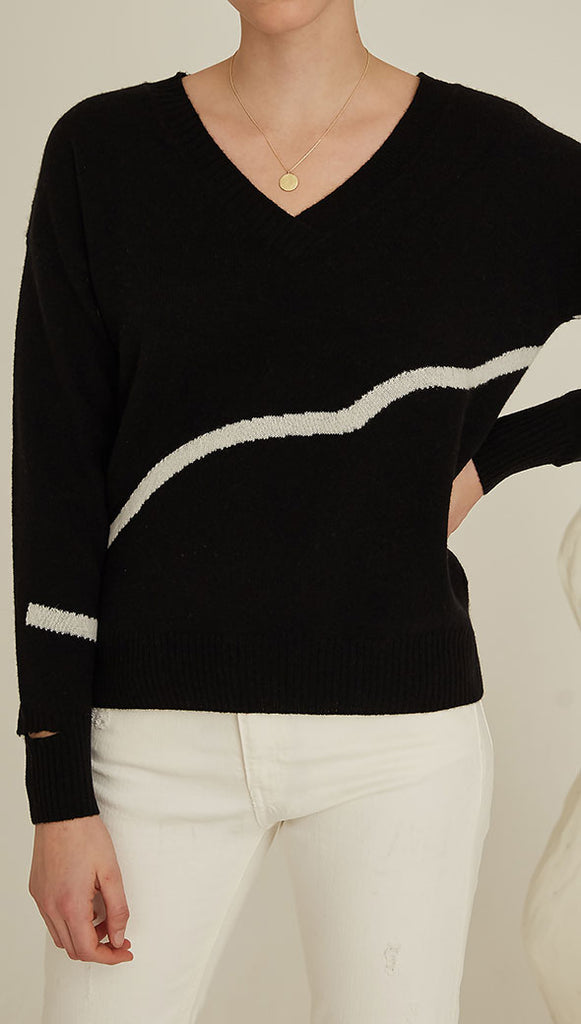 AGATHA CASHMERE SWEATER - BLACK