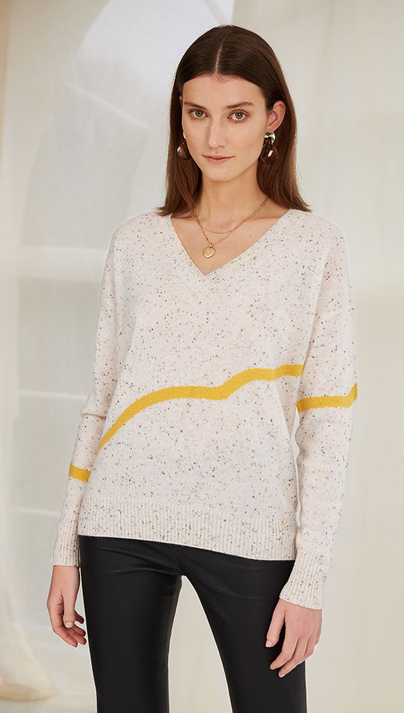 AGATHA CASHMERE SWEATER - LESLIE