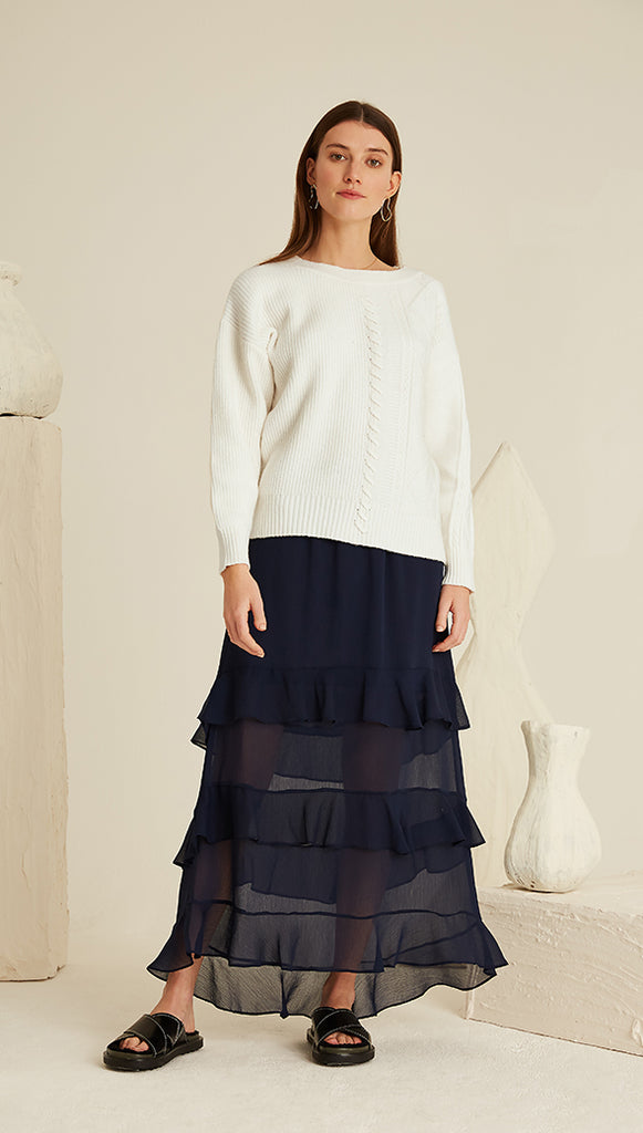 EMANUELLE SKIRT - NAVY